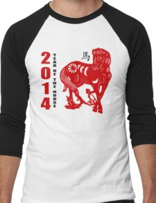 Year of The Horse 2014 Men's Baseball ¾ T-Shirt