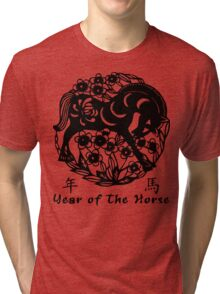 Year of The Horse Papercut Tri-blend T-Shirt