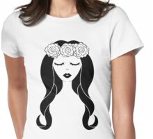 Flower Crown for Light Colors Womens Fitted T-Shirt