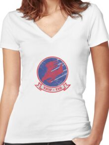 VAW-110 Women's Fitted V-Neck T-Shirt