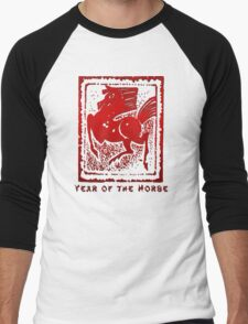 Year of The Horse Men's Baseball ¾ T-Shirt