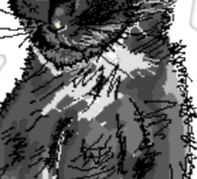 Saphira the cat Pixel sketch Sticker