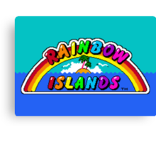 Rainbow Islands Canvas Print