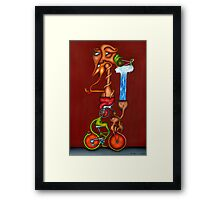 The Bicycle, the Penny Farthing, and the Kundalini Awakening Framed Print