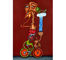 The Bicycle, the Penny Farthing, and the Kundalini Awakening Photographic Print