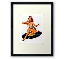 Rockabilly Goddess Framed Print