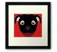 Black Pitbull Face Framed Print