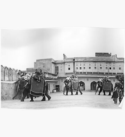 Amer Fort Jaipur Elephant ride Poster