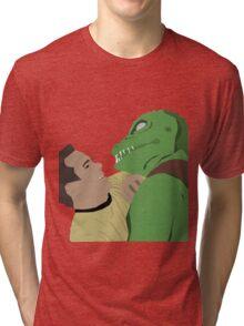 Kirk vs. the Gorn Tri-blend T-Shirt
