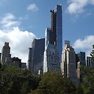 The One57 Skyscraper Dominates the Central Park South Skyline, New York City by lenspiro