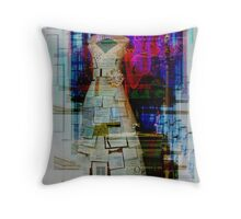 Wedding Announcements Gown Throw Pillow