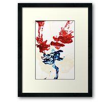 Ink in water Framed Print