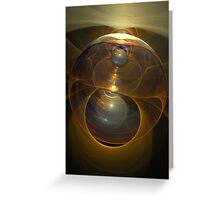 Magical Light, abstract fractal artwork Greeting Card
