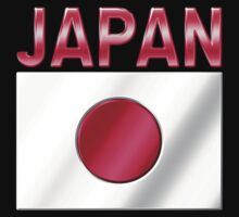 Japan - Japanese Flag & Text - Metallic by graphix