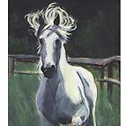 White Horse by Suzanne Marie Leclair by LeclairArt