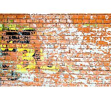 Brick Wall 2 Photographic Print