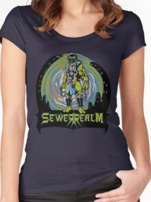 SewerRealm -Blue Women's Fitted Scoop T-Shirt