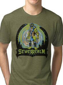 SewerRealm -Blue Tri-blend T-Shirt