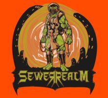 SewerRealm -Orange Kids Tee