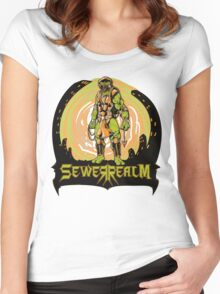 SewerRealm -Orange Women's Fitted Scoop T-Shirt