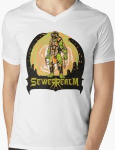 SewerRealm -Orange Mens V-Neck T-Shirt