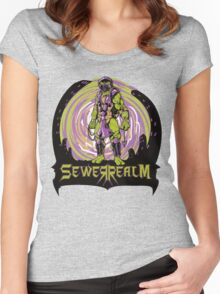 SewerRealm -Purple Women's Fitted Scoop T-Shirt