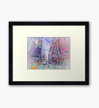 Time Square New York Framed Print
