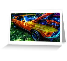 CLASSIC MUSCLE CAR Greeting Card