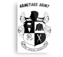 Armitage Army CoA -txt- Metal Print