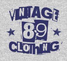 vintage89 logo tee blue by Vintage89