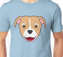 Fawn Pitbull Face with Blaze Unisex T-Shirt