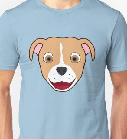 Fawn Pitbull Face with Blaze Unisex T-Shirt