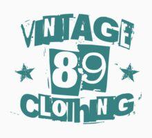 vintage89 logo tee teal by Vintage89