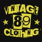 vintage89 logo tee yellow by Vintage89