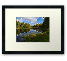 Autumn at Sahler Mills Lake Framed Print