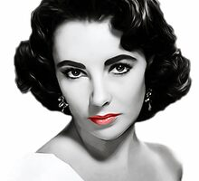 Elizabeth Taylor - Movie Star - Pop Art by wcsmack