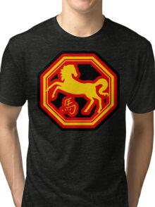Chinese Zodiac Horse - Year of The Horse Tri-blend T-Shirt