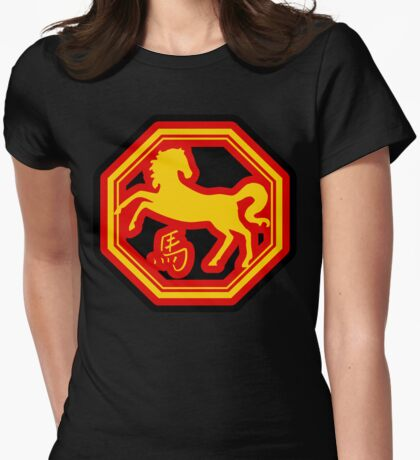 Chinese Zodiac Horse - Year of The Horse Womens Fitted T-Shirt