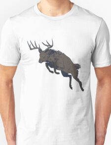 Jumping deer yo Unisex T-Shirt