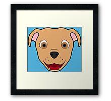 Fawn Pitbull Face Framed Print