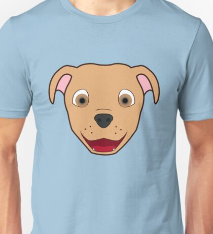 Fawn Pitbull Face Unisex T-Shirt