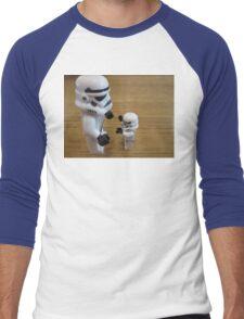 Dave Stormtrooper  Fathers Day Hug Men's Baseball ¾ T-Shirt