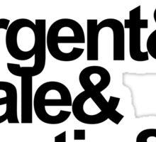 Teen Wolf Main 6 (Black Text) Sticker