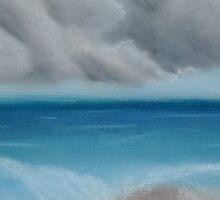 Stormy Beach by LeftyLucille