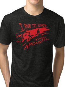 Running Zombie Tri-blend T-Shirt