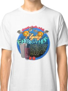 Flying FairBrothers non-alcoholic cocktail drink recipe by Valxart.com Classic T-Shirt
