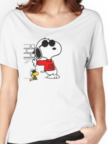 joe cool and woodstock! Women's Relaxed Fit T-Shirt