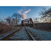 Railroad Bridge - Manchester  Photographic Print