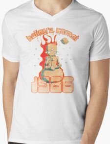 Halley's Comet 1986 - Vintage Mens V-Neck T-Shirt