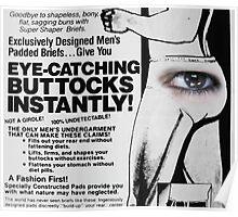 Eye-Catching Buttocks Poster